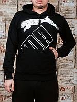 Мужские спортивные трикотажные кофты Puma размеры 46-52 черные РОСТОВКА