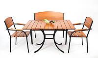 """Комплект меблів для літніх кафе """"Феліція"""" стіл (120*80) + 2 лавки Твк, фото 1"""