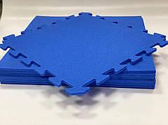 Детский мягкий пол пазл Спорт НХ 10мм 480х480см (синий)