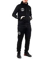 Мужской спортивный трикотажный костюм Jordan размеры 46-52 норма на манжете чёрный РОСТОВКА