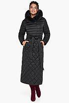 Женская куртка стеганая цвет черный модель 31012, фото 3