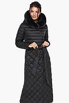 Женская куртка стеганая цвет черный модель 31012, фото 2