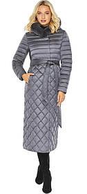 Жемчужно-серая комфортная куртка женская модель 31012