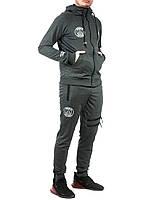 Мужской спортивный трикотажный костюм Jordan размеры 46-52 норма на манжете тёмно-серый РОСТОВКА