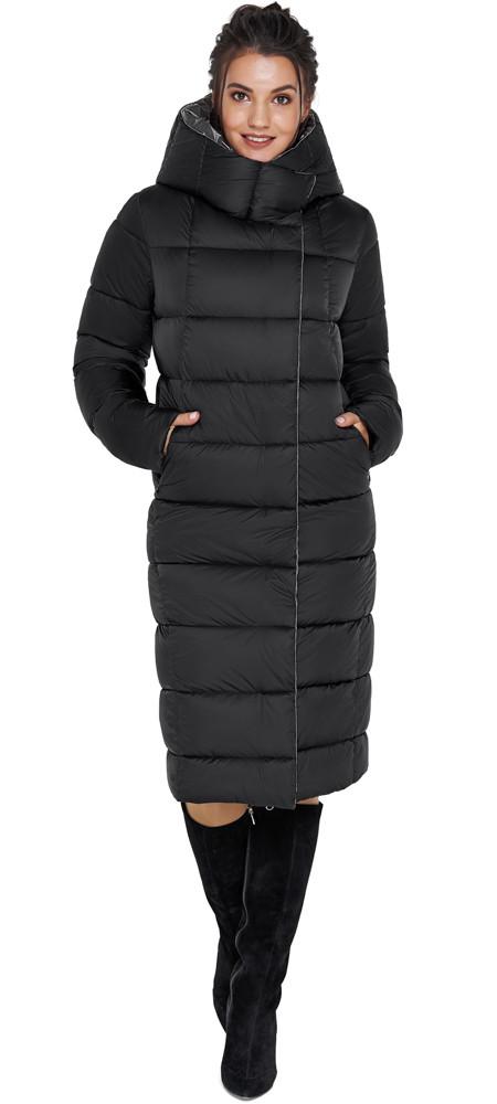 Куртка чорна оригінальна жіноча модель 31028 58 (4XL)