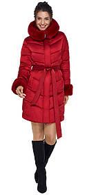 Элегантная рубиновая женская куртка модель 31068