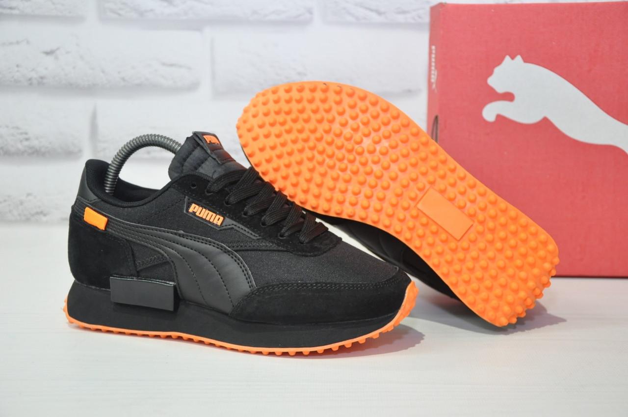 Кросівки жіночі, підліткові чорні Puma Future Rider