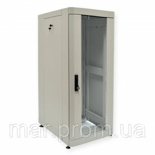 "Шкаф 19 ""28U, 610 х 865 мм (Ш * Г), серый"