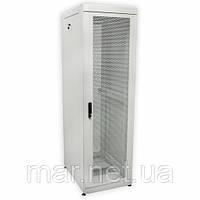 """Шкаф 19 """"42U, 610х1055 мм (Ш * Г), усиленная, перфорированные двери (66%), серый"""