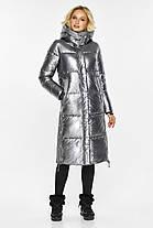 Куртка з капюшоном жіноча колір срібло модель 42650, фото 2