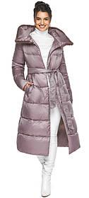 Женская куртка с прорезными карманами цвет пудра модель 45085