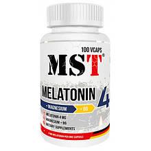 Мелатонін MST Nutrition Melatonin 4 mg + MgB6 100 caps