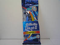 Gillette жиллетт Blue II Plus станок мужской одноразовый 3 шт.