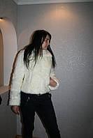 Модная  шуба белая из искусственного меха
