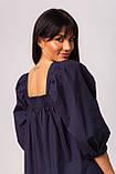 Воздушное короткое хлопковое платье свободного кроя с рукавом-фонариком в 3 цветах в размере S/M, M/L., фото 6
