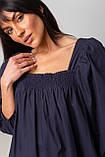 Воздушное короткое хлопковое платье свободного кроя с рукавом-фонариком в 3 цветах в размере S/M, M/L., фото 7