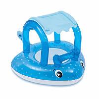 Круг ходунки для плавания Intex 56589 Скат 103 х 77 см с сиденьем и навесом