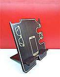 Організатор настільний дерев'яний для телефону, годинників, окулярів, ключів, фото 2