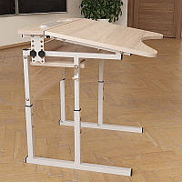Стол Аудит с площадкой регулируемый по высоте и углу наклона столешницы 20×20 в 25×25 одноместный