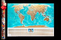 Скретч карта мира My Map Flags edition UKR/RUS/ENG в тубусе