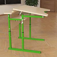 Стол Аудит НУШ с площадкой регулируемый по высоте и углу наклона столешницы 20×20 в 25×25 одноместный
