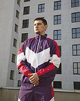 Спортивный костюм мужской Ветровка + Штаны Split фиолетовый | Комплект мужской весенний осенний ЛЮКС качества