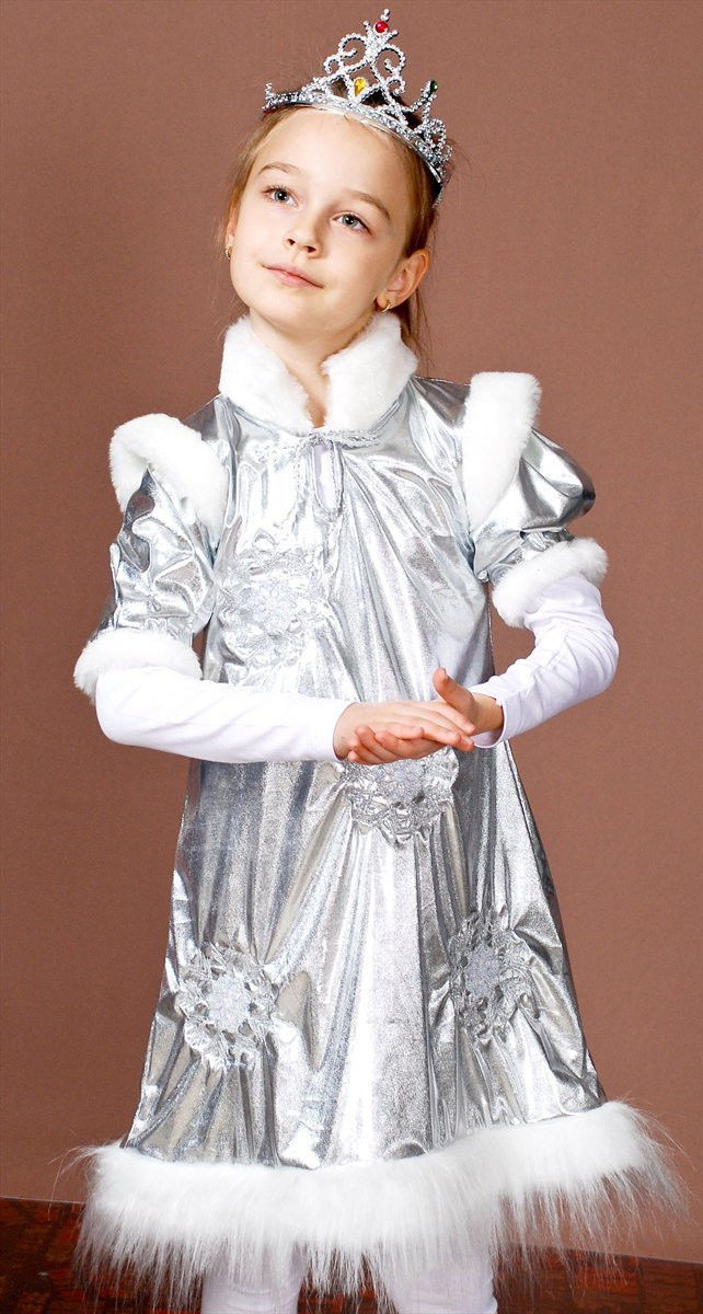 Новогодний костюм для девочки снежинка