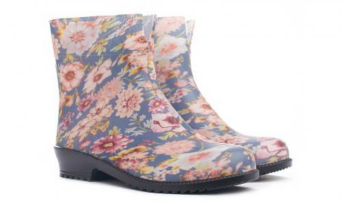 Кольорові гумові чоботи жіночі короткі красиві