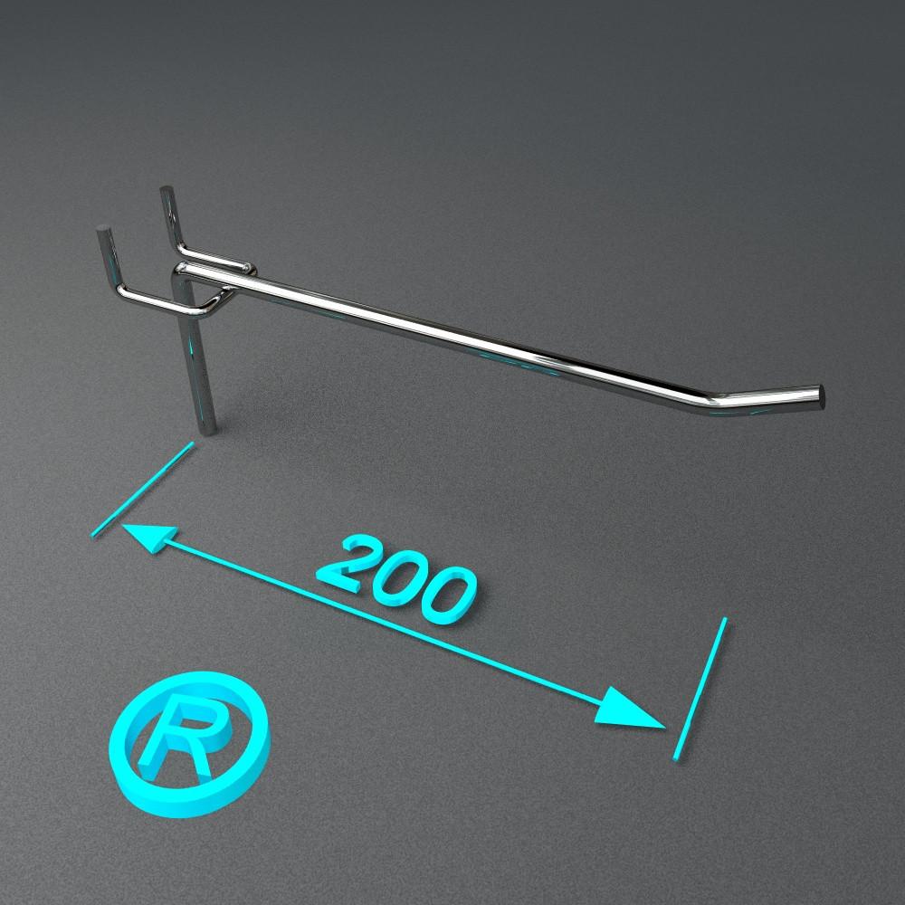 Крючок торговый на перфорацию 200 мм
