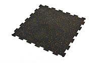 Коврик-пазл под тренажер резиновый 1шт 60x60x0,6см FI-5348-1 (черный)