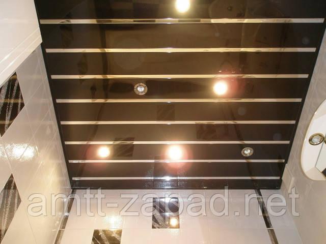 Монтаж реечного алюминиевого потолка