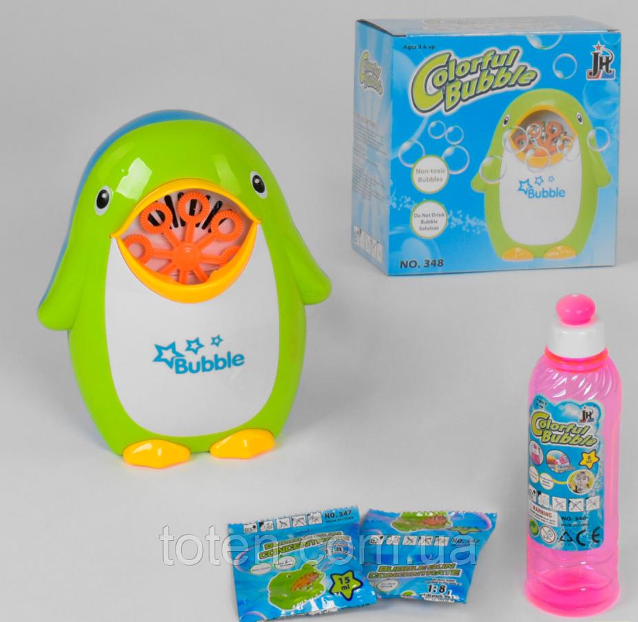 Гра з мильними бульбашками Пінгвін 348 на батарейках в коробці Т