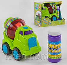 """Машинка с мыльными пузырями Бетономешалка  75348   """"TK Group"""", на батарейках, в коробке"""