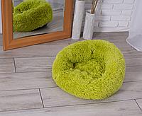 Подушка лежак для кошки и собаки лежанка 50 см зеленый лежанка
