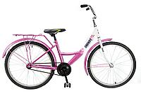 """Велосипед підлітковий 24"""" ХВЗ SAVKOS, модель 01-2 ХВЗ Рожево-білий"""