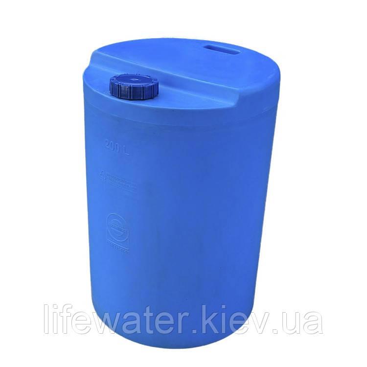 Емкость V-200, пищевая пластиковая бочка, бак для воды