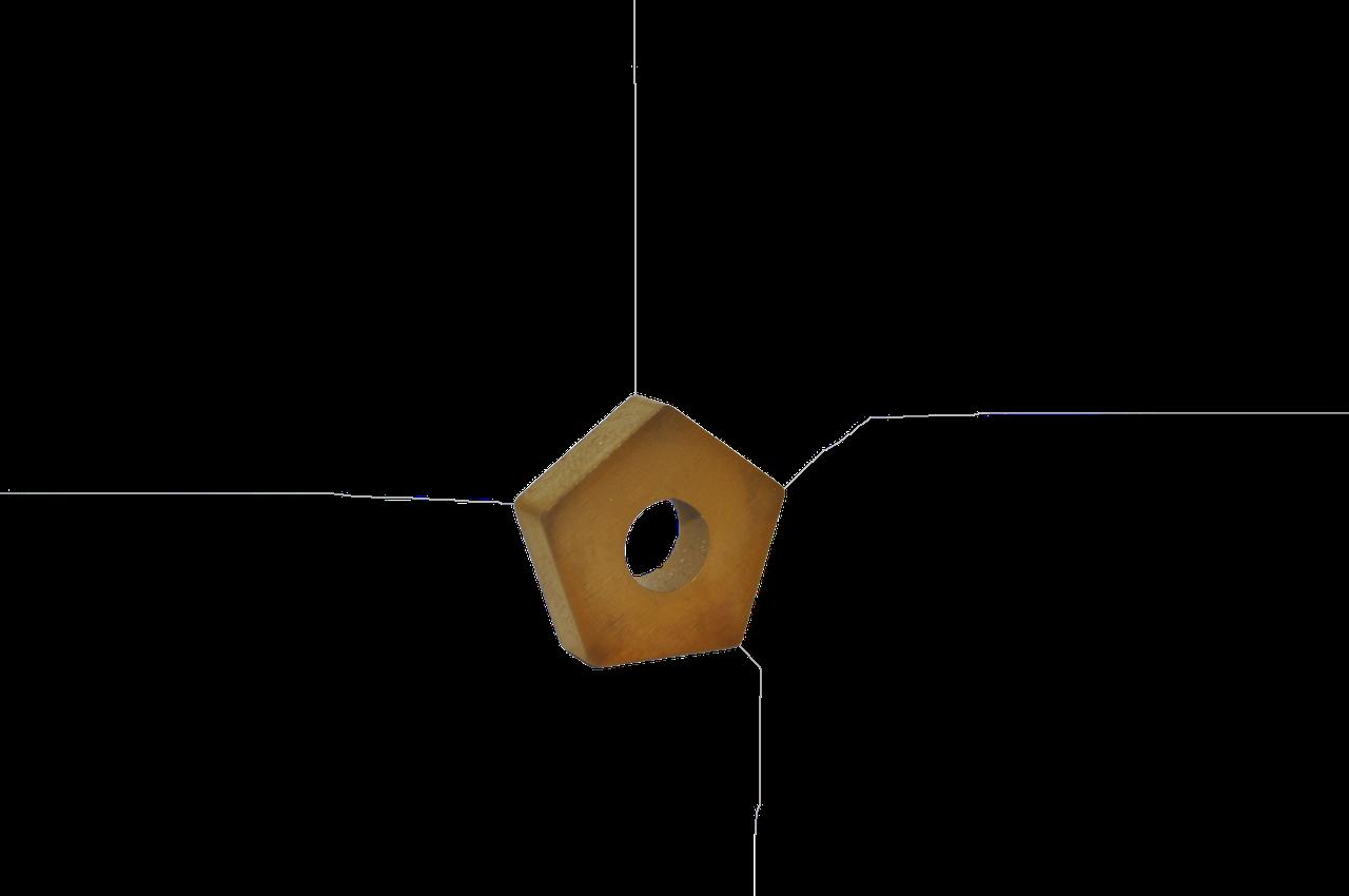 Пластина твердосплавная пятигранная 10113-110408 PNUA-110408 (Т5К10) TIN