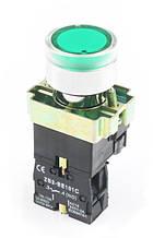 """Кнопка управления XB2-BW3361  зеленая """"Старт"""" с подсветкой"""