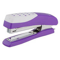 Степлер BUROMAX №10 (12арк) пластиковий Шахматка, фіолетовий