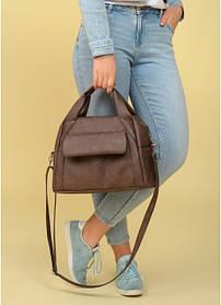 Cпортивная cумка Sambag Vogue BQS светло-коричневый нубук