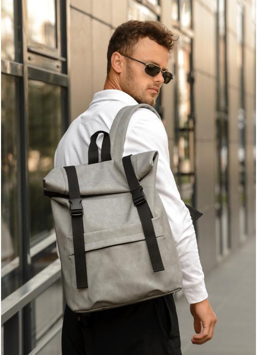 Рюкзак ролл Sambag RollTop m серый нубук
