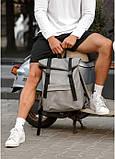 Рюкзак ролл Sambag RollTop m серый нубук, фото 2
