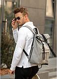 Рюкзак ролл Sambag RollTop m серый нубук, фото 4
