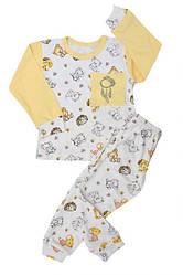 Пижама демисезонная для девочки: футболка длинный рукав+штаны, интерлок, БОМА (размер 2(92))