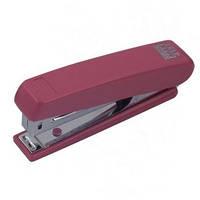 Степлер BUROMAX №10 (12арк) пластиковий, червоний