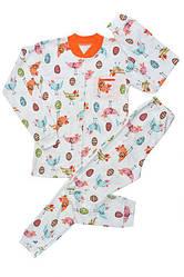 Пижама демисезонная для девочки: футболка длинный рукав+штаны, интерлок, БОМА (размер 10(140))