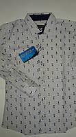 Рубашка приталенная белая Polo, одежда для мальчиков 7-12