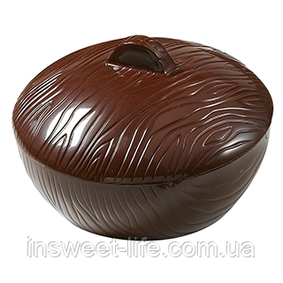 Поликарбонатная форма шоколадная коробочка круглая