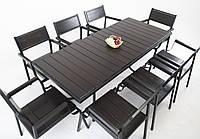 """Комплект садовой мебели """"Бристоль"""" стол (180*80) + 8 стульев Венге, фото 1"""