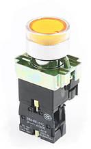 """Кнопка управления XB2-BW3561  жёлтая  """"Старт"""" с подсветкой"""